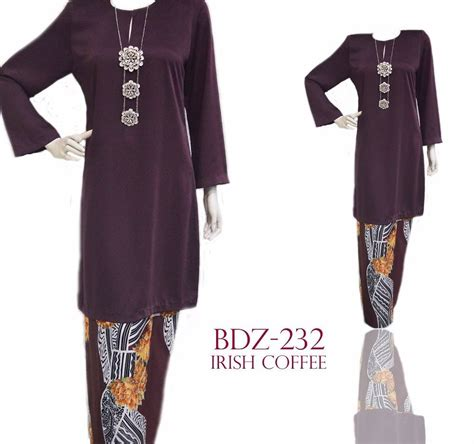 Baju Zara baju kurung crepe d zarra bdz231 bdz235