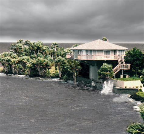 elevated hurricane proof home on pilings stilts other