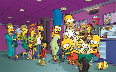 simpsons living room painting last exit to springfield simpsons wallpaper