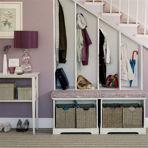 Stair Closet Organization Ideas by Stair Storage Solution Staircase Foyer Hallway Shoes