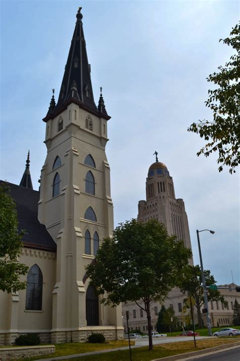 catholic churches in lincoln nebraska st s catholic church the capital building in