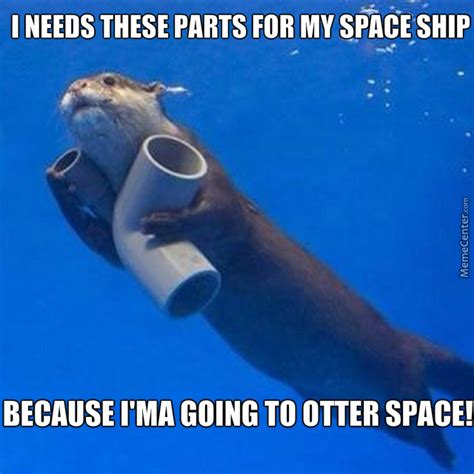space meme otter space by recyclebin meme center