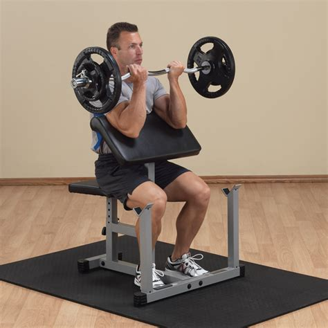 preacher curl without bench ppb32x powerline preacher curl body solid fitness