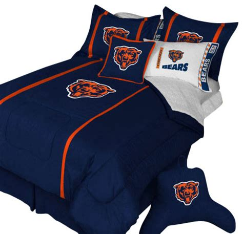 nfl chicago bears queen comforter pillow shams mvp bed set