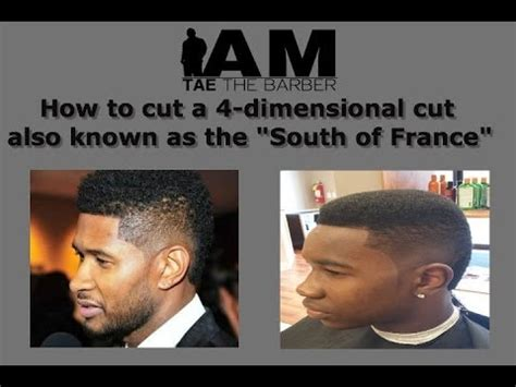 what is a dymensional haircut how to cut a 4 dimensional haircut south of france usher