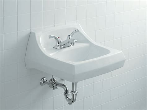kohler commercial bathroom sinks kingston wall mounted or concealed carrier arm mounted