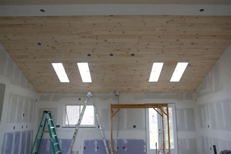 Pine Plank Ceiling by House Tweaking