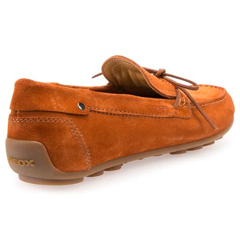 Sandal Slop Geox geox giona suede driving shoes in orange for lyst