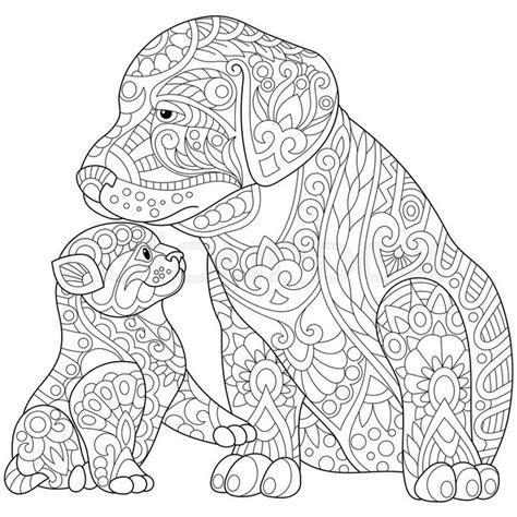 coloring pages of dogs for adults 470 best cats dogs coloring pages for adults images on