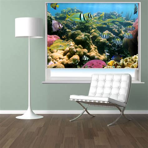 fish pattern roller blinds tropical fish under the sea printed photo roller blind