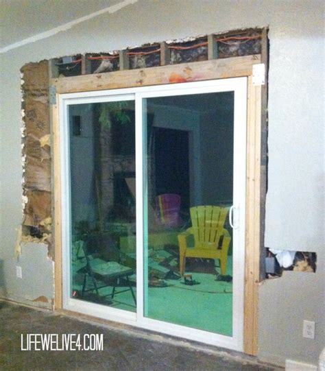diy install patio door in brick or limestone wall