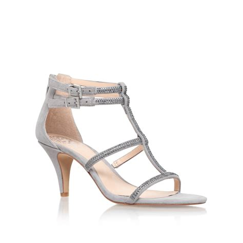 vince camuto high heels vince camuto malla high heel sandals in gray lyst