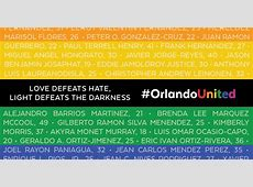 Remembering The Victims Of Homophobia, Pulse LGBTQ ... Victims List Orlando Shooting