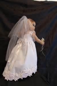 Handmade Wedding Gown - handmade american doll wedding dress by