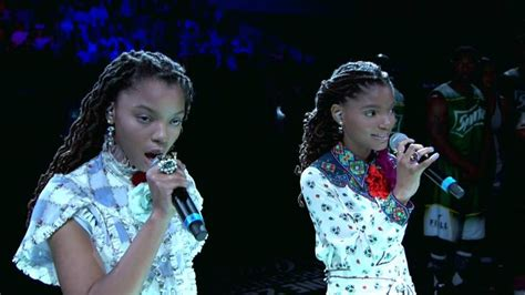 chloe and halle bailey national anthem 17 best images about keeping up with gt gt gt on pinterest