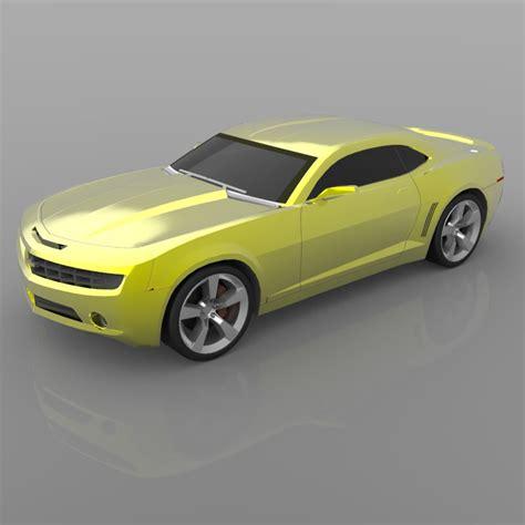 chevrolet camaro concept   model obj cgtradercom
