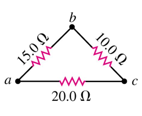 triangular resistor network a triangular array of resistors is shown in the fi chegg