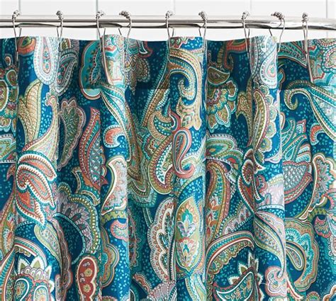 paisley shower curtain ana paisley shower curtain pottery barn