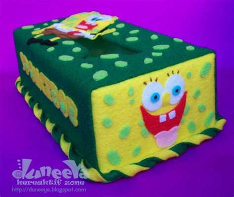 Boneka Wisuda Spongebob craft souvenir educative toys tissue box spongebob