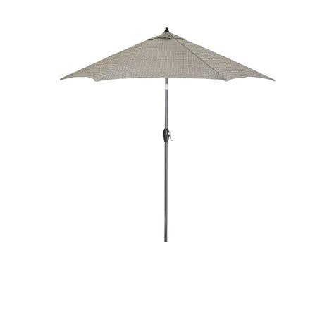 Hton Bay 9 Ft Aluminum Market Patio Umbrella In Cement Hton Bay 9 Ft Aluminum Patio Umbrella In Sky Blue With