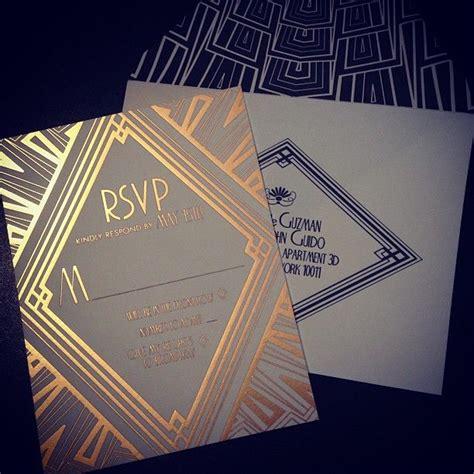 deco themed wedding invitations ellington deco wedding invitations for a