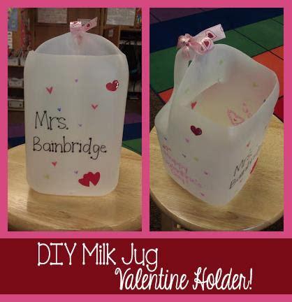 valentines card holder diy milk jug card holder