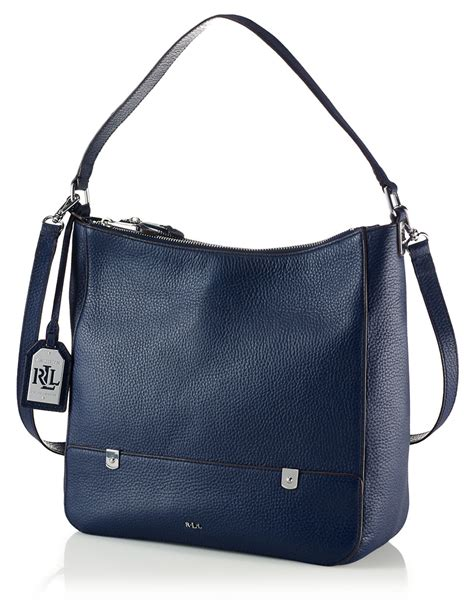 7320 Blue Shoulder Bag by ralph morrison leather hobo bag in blue