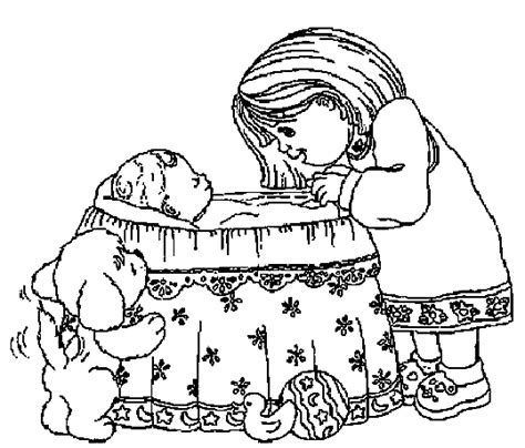 Baby Coloring Pages Coloringpages1001 Com Newborn Baby Coloring Pages Free