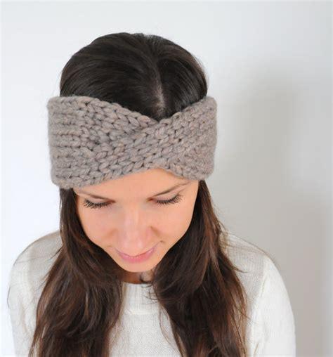 how to knit a headband with a twist knit headband knit hair band ear warmer knit twist