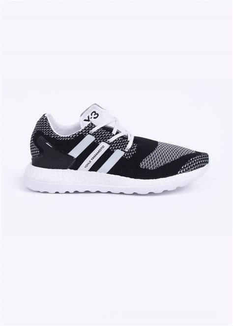 adidas y3 pure boost adidas y 3 pure boost zg knit trainers black white