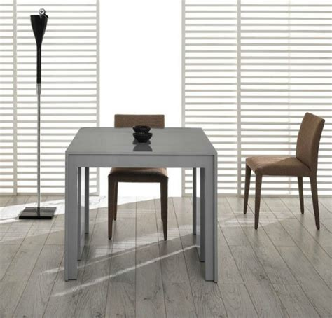 Grey Extendable Dining Table Modrest Morph Modern Ultra Compact Extendable Grey Gloss Dining Table