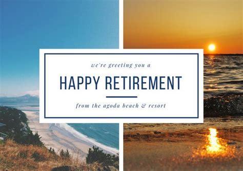 Customize 43  Retirement Card templates online   Canva