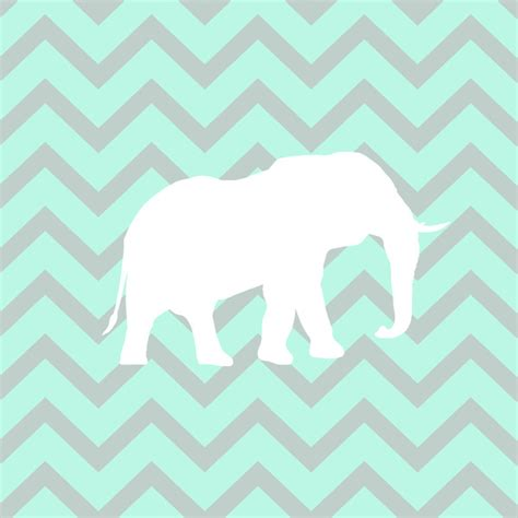 Mint Elephant Rug by Pale Mint Chevron Elephant Pattern Print By Rexlambo