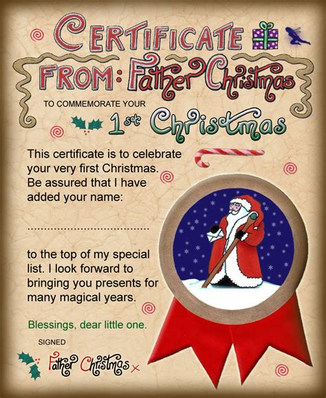 free printable baby s first letter from santa santa certificate first christmas rooftop post printables