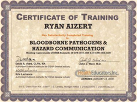 tattoo infection control certificate bloodborne pathogens certification
