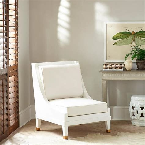 White Accent Chair Modern White Swoop Arm Accent Chair