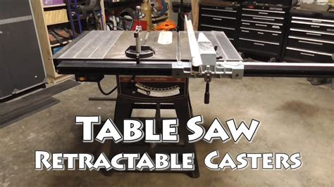 craftsman table saw casters retracting casters for table saws modern coffee tables