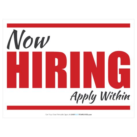 Now Hiring Template on cus