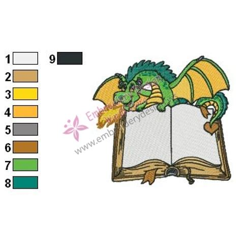 embroidery design reader dragon the reader embroidery design