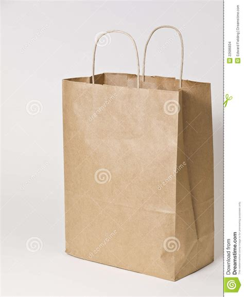 How To Make A Paper Shopping Bag - brown paper shopping bag stock images image 22686834