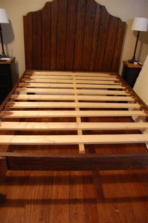 wooden slat bed frame how to build a wooden bed frame 22 interesting ways