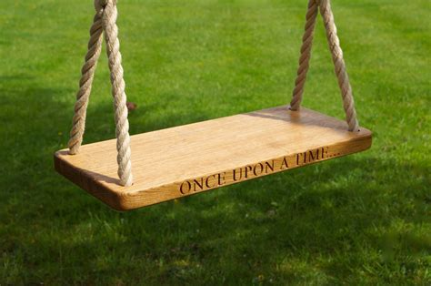 best garden swing seat engraved oak swings with rope makemesomethingspecial com