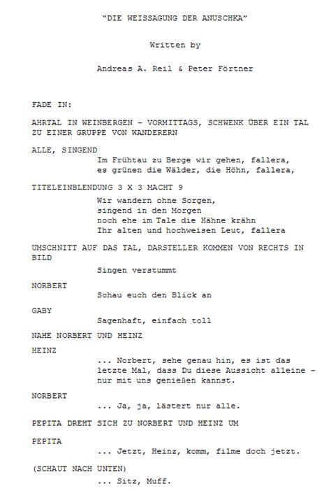wann schreibe ich zahlen aus drehbuch f 252 r einen spielfilm schreiben beispiel mit