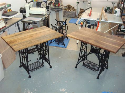 sold treadle sewing machine computer desks by