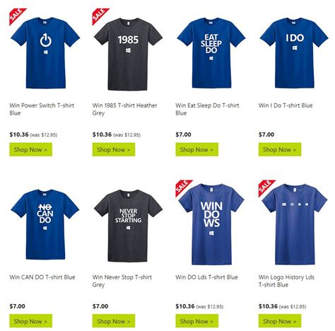 T Shirt 10 microsoft launches windows 10 t shirts for the fans