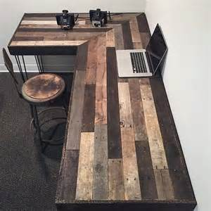 reclaimed wood desk diy unique and diy pallet project ideas dearlinks