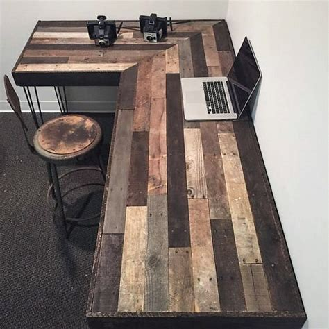 Rustic L Shaped Desk Unique And Diy Pallet Project Ideas Dearlinks