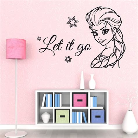 Mj8001 Go Wall Sticker Stiker elsa let it go frozen wall sticker from wall chimp uk