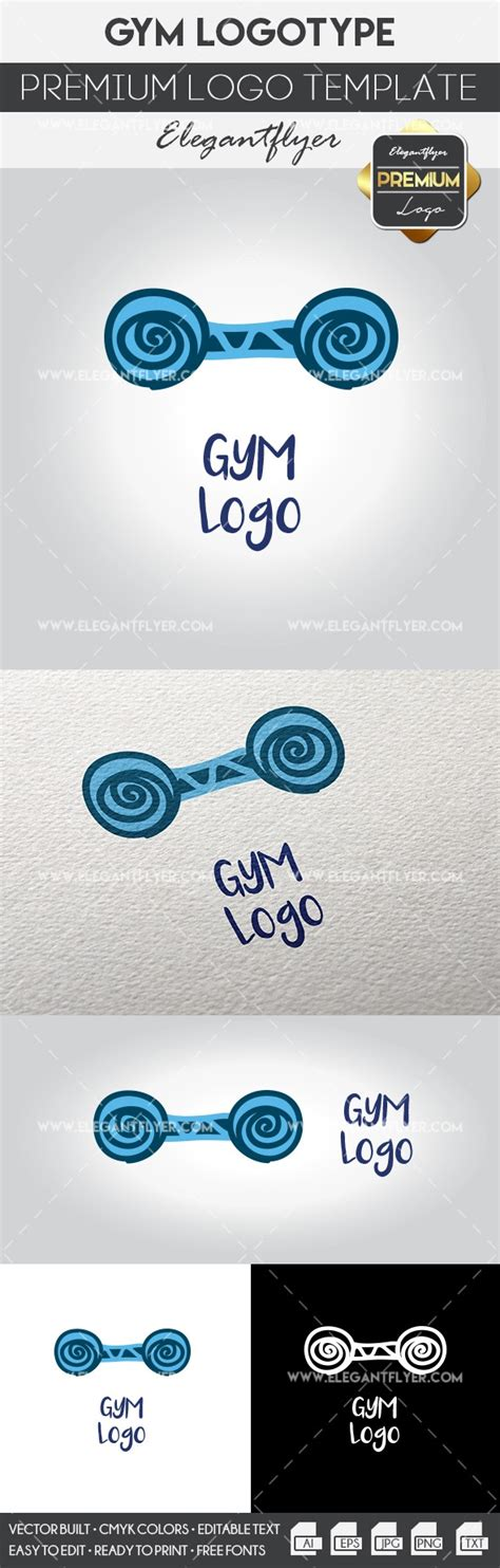 Gym Logo Premium Logo Template By Elegantflyer Premium Logo Templates