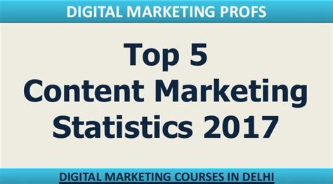 Digital Marketing Course Review 5 by Top 5 Content Marketing Statistics 2017